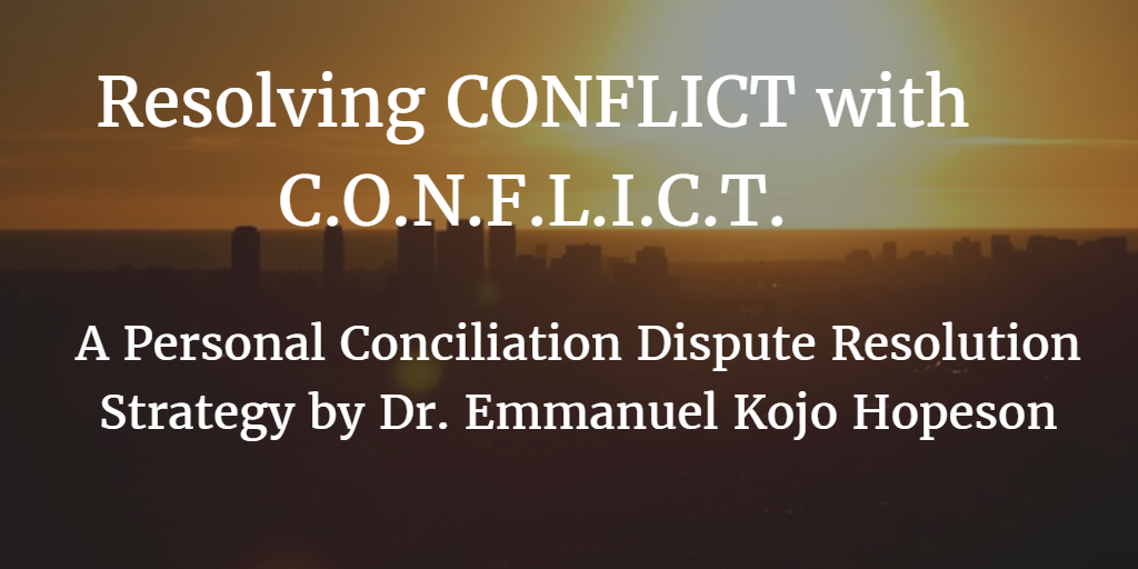 Resolving conflict with CONFLICT