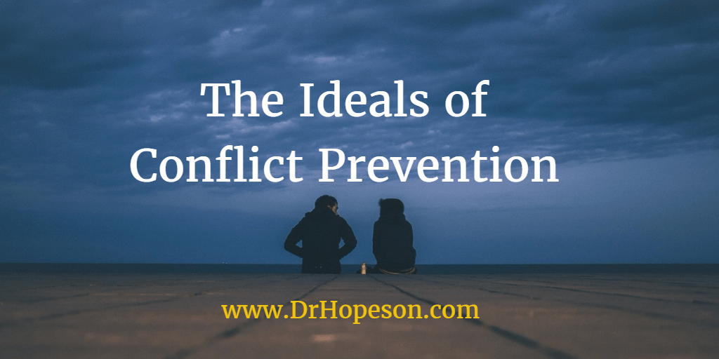 The Ideals of Conflict Prevention - Dr Hopeson